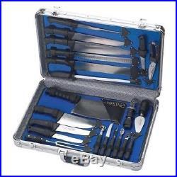 Kitchen Knife Set Storage Brief Case Cutlery Chef 22 Pc