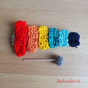 xylophone au crochet, faire un jouet au crochet 1