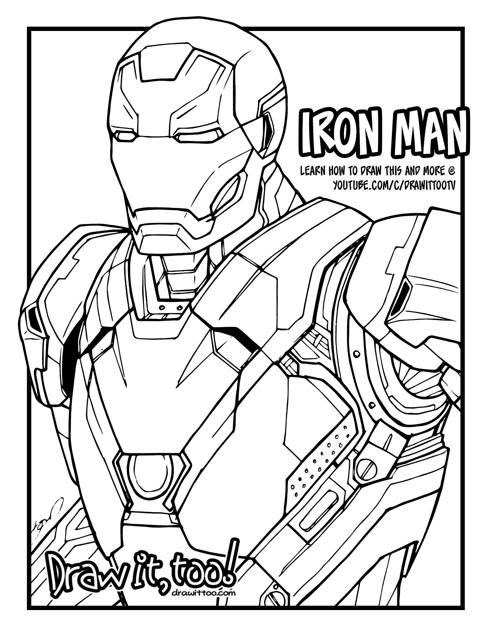 Iron Man Drawing at GetDrawings | Free download