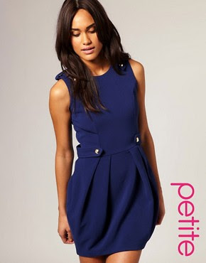 Image 1 of ASOS PETITE Tailored Drummer Girl Tulip Dress