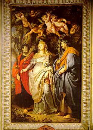File:Domitilla with Nereus and Achilleus, by Rubens (Chiesa Nuova, Rome).jpg