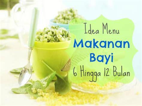 idea menu makanan bayi  hingga  bulan aya chalo stories