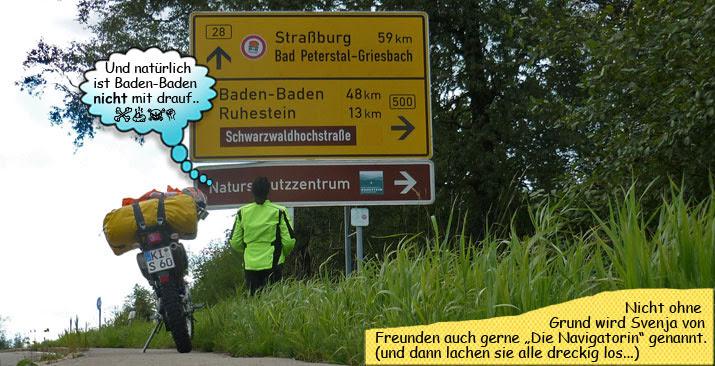 Svenja Svendura auf der Schwarzwaldhochstraße