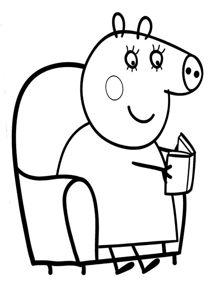 Utiles Dibujos Para Colorear Peppa Pig Para Chiquitines Creativos