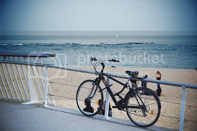 Lonely Bike at Barcelona Beach