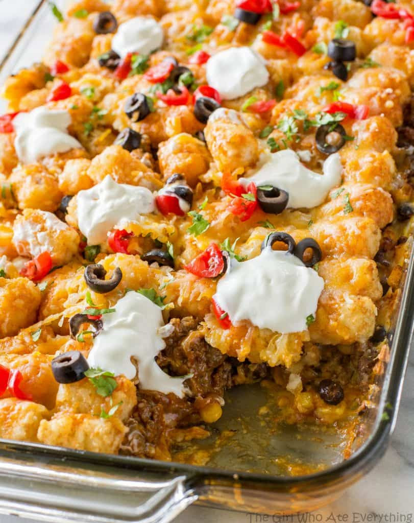 Tater Taco Casserole - The Girl Who Ate Everything