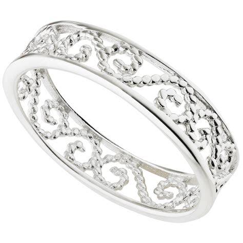 wedding engagement bridal band floral ring