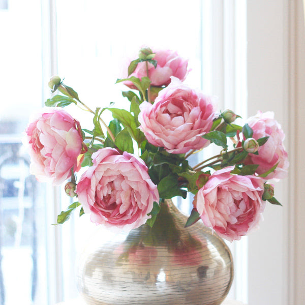 Luxury Artificial Pink Peony Amaranthine Blooms