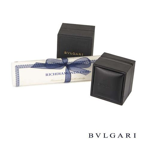 Bvlgari 18k White Gold Multi Gem Set Allegra Ring AN852714