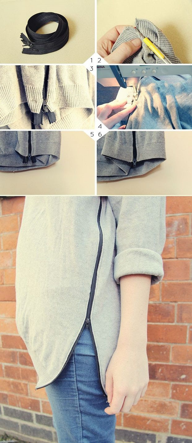 The Best Fashion DIY Projects Ever! , Zip Jumper
