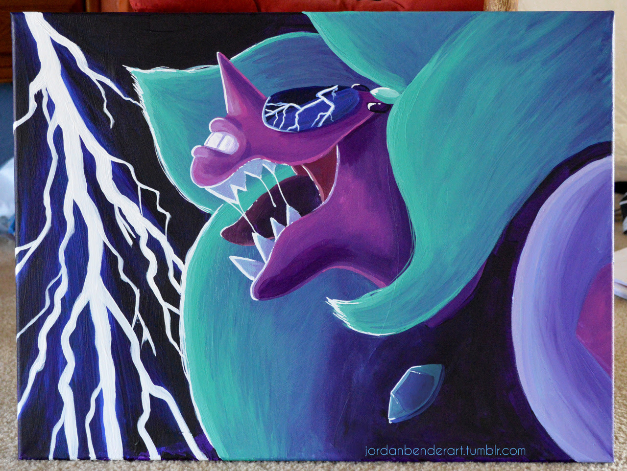 18x24 inch painting of Alexandrite. I drew the same thing with markers a little bit ago and I decided to paint it as well! Original is for sale but you can also get prints!Message me for inquiries!
