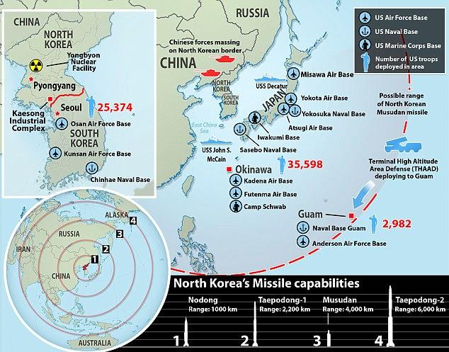 """Résultat de recherche d'images pour """"North korea guam"""""""