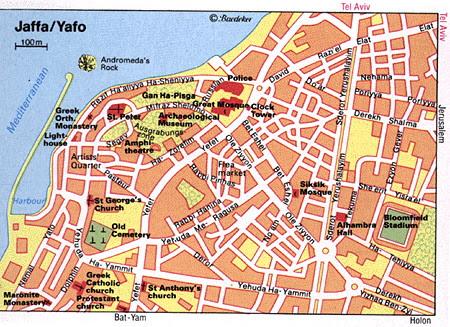 Tel Aviv Yafo Map And Tel Aviv Yafo Satellite Image
