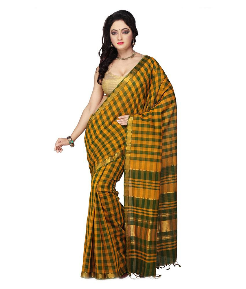 http://devihandlooms.com/shop/product/dark-yellow-color-mangalagiri-handloom-cotton-saree-with-checks/