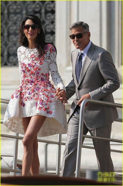 2014 George Clooney Couples Wedding Dresses Cap Sleeves