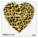 Large Heart Wall Decal with Leopard Print