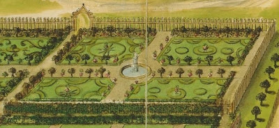 Verbovecz castle garden design (detail)