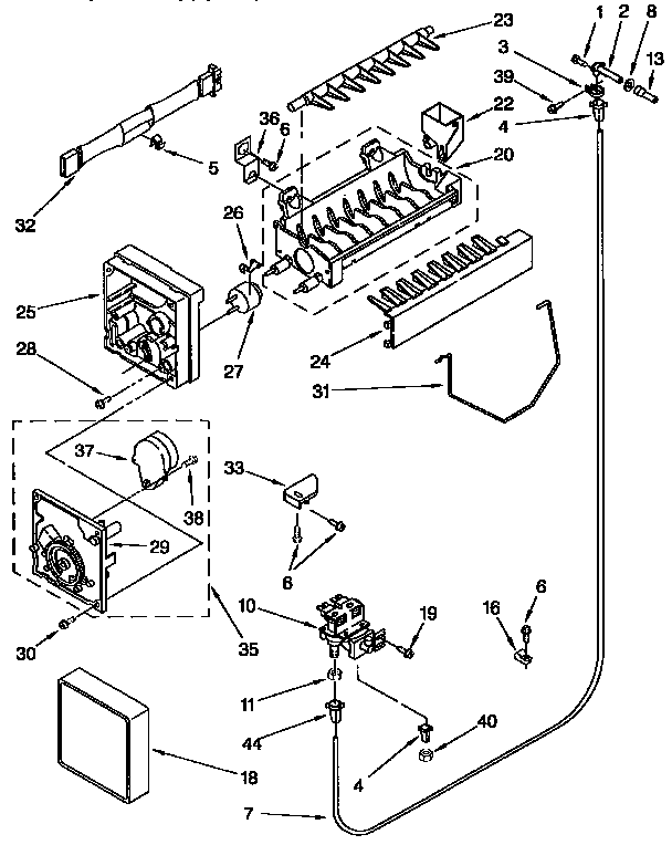 28 Ice Maker Parts Diagram
