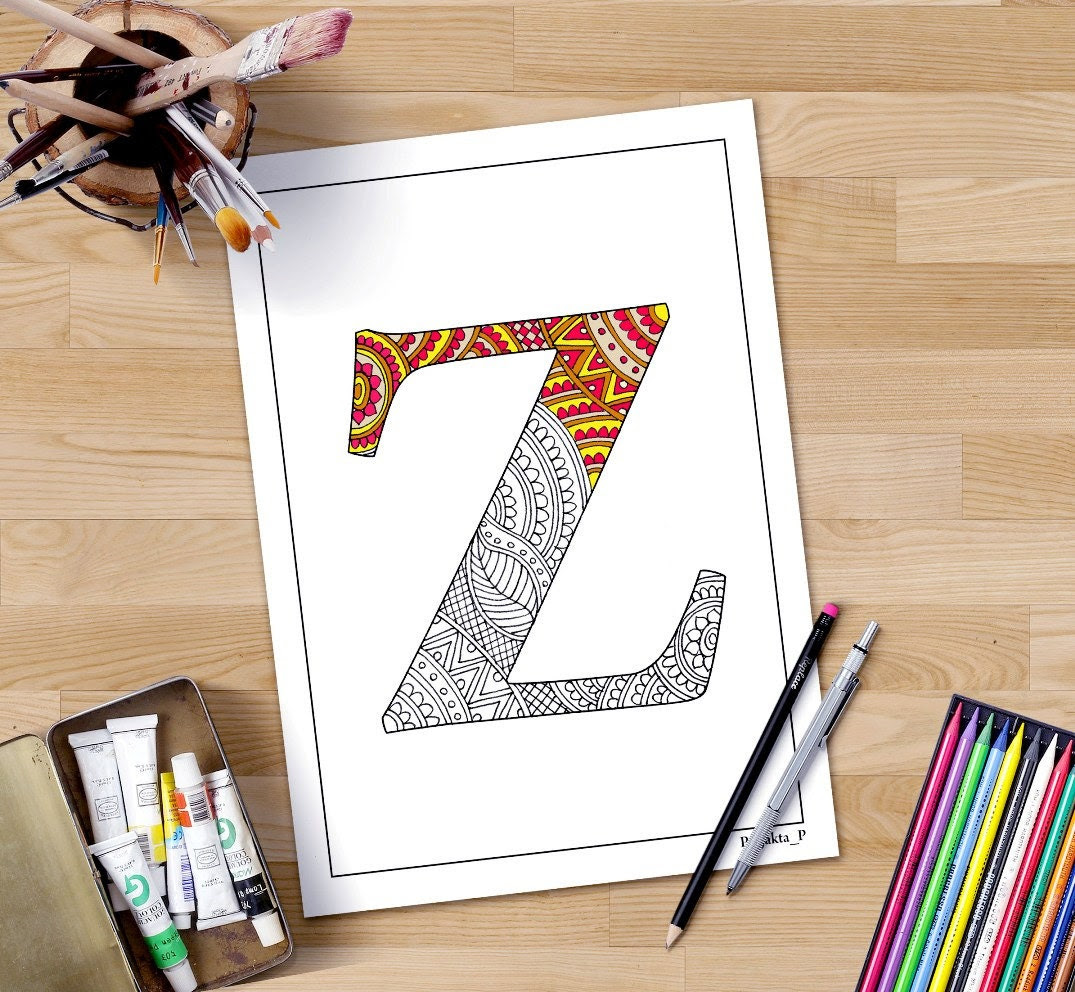 letter R coloring page printable coloring by DifferentStrokesArts