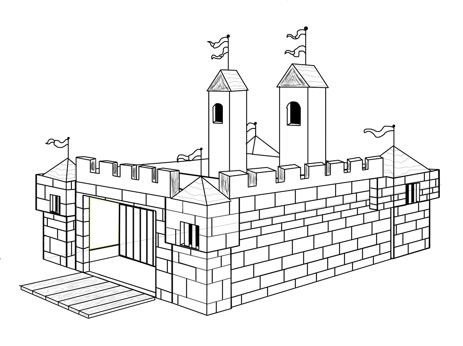 Coloriage Chateau Fort Cp.Telecharger Coloriage De Chateau Fort A Imprimer Coloriage A