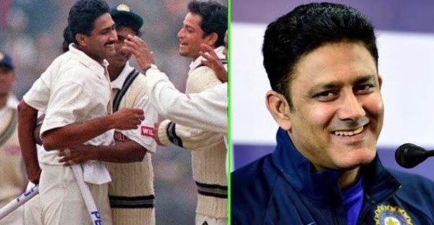 On This Day, 20 Years back The Jumbo Anil Kumble took perfect 10 in an innings against Pak at Firoz Shah Kotla