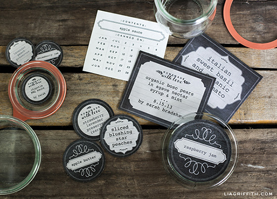 Printable Chalkboard Style Freezer & Canning Jar Labels - Lia Griffith