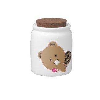 Kawaii Candy Beaver candyjar