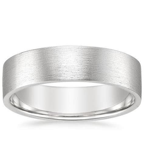 Men's 6mm Flat Matte Comfort Fit Wedding Ring   Brilliant