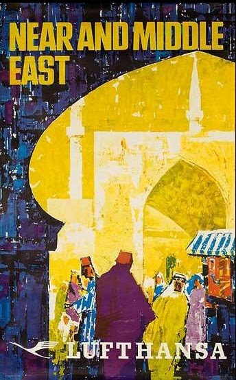 deco aurora vintage middle eastern travel posters my obsession with the middle east. Black Bedroom Furniture Sets. Home Design Ideas