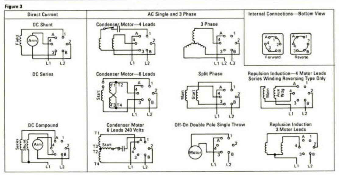 Single Phase Reversing Motor Contactor With Wiring Diagram