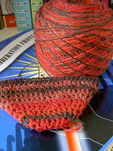 Dragonscale socks - in progress