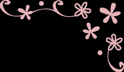 枠飾り枠飾り罫飾り線おしゃれな小花のデザイン無料イラスト素材