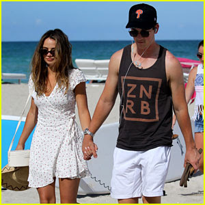 Miles Teller & Girlfriend Keleigh Sperry Spend the Day at the Beach