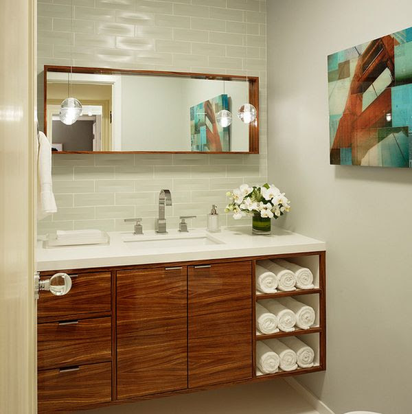 ιδέες για να οργανώσετε και να εκθέσετε τις πετσέτες στο μπάνιο σας7