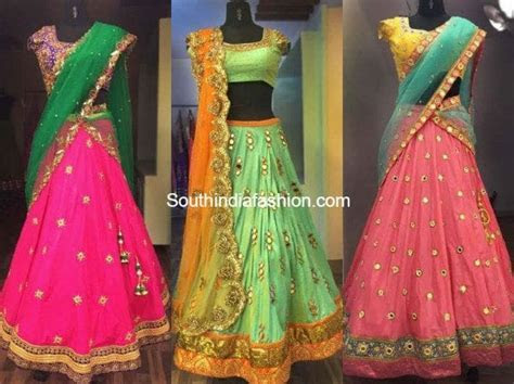 Designer Half Sarees by Ashwini Reddy ? South India Fashion