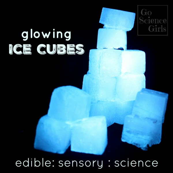 Glowing Ice Cubes Edible Sensory Science Play Go Science Girls