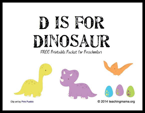 D is for Dinosaur -- Letter D Printables