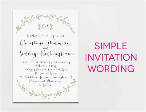 Wedding Invitation Wording Examples In Every Style