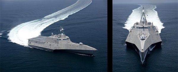 The 'Littoral Combat Ship' USS Independence.