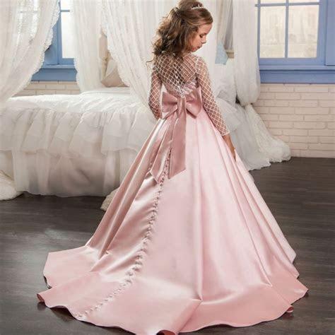 Princess Girls Diamond Designs Evening Hi Low Wedding