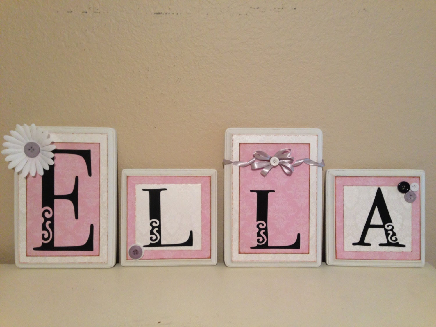 Popular items for baby name letter hanging wall on Etsy