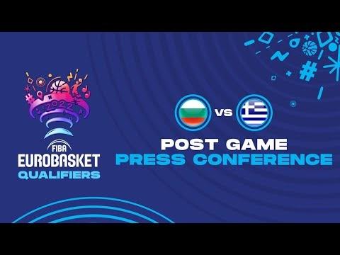 Η συνέντευξη τύπου μετά το τέλος του αγώνα Βουλγαρία-Ελλάδα για τα προκριματικά του Ευρωπαϊκού ανδρών 2022, ζωντανά από το Σαράγιεβο