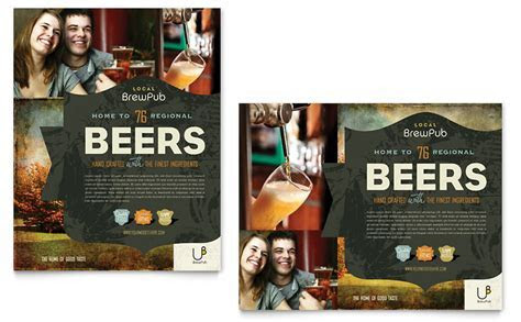 Brewery & Brew Pub Poster Template   Word & Publisher
