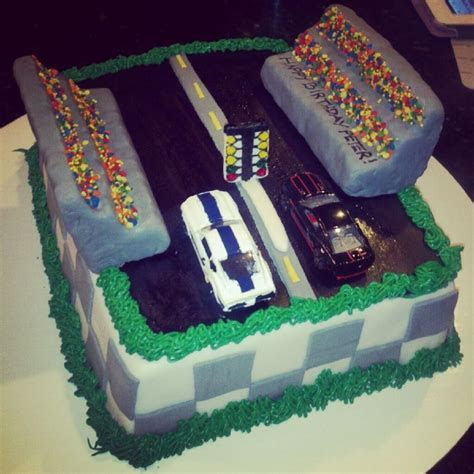 Drag racing cake sweet baby Jesus I don't know who told