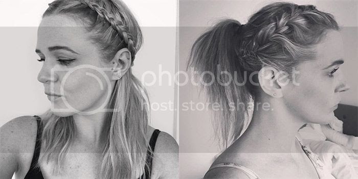 gym hairstyles french dutch braids