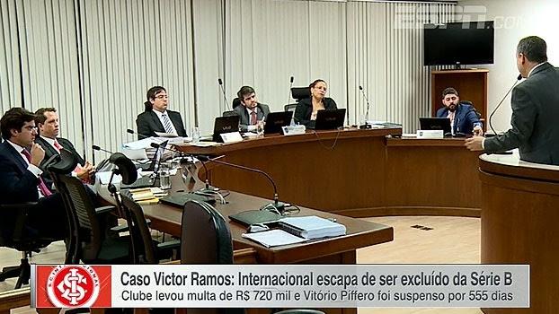 Inter escapa de ser excluído da Série B; Cícero Mello traz as informações do julgamento do caso Victor Ramos