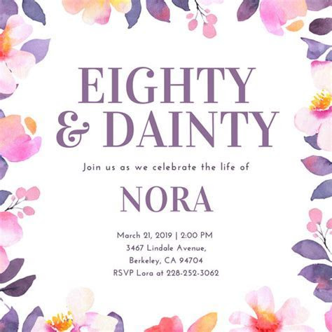 Customize 985  80th Birthday Invitation templates online