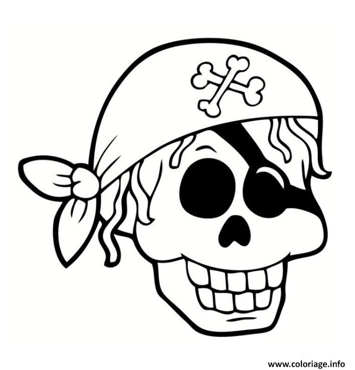 Coloriage Tete De Mort Pirate Jecoloriecom