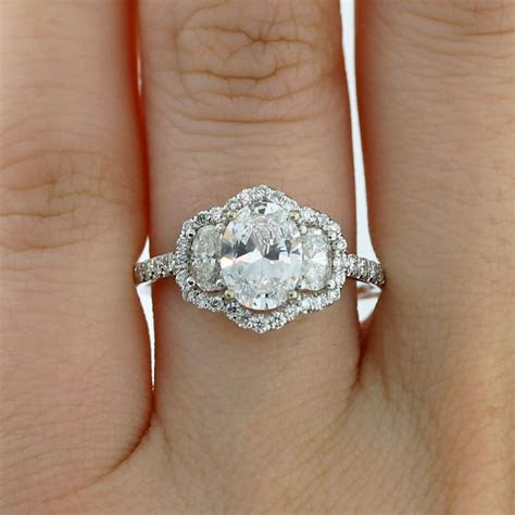 Uneek LVS836 0.68ctw Diamond Three Stone Engagement Ring