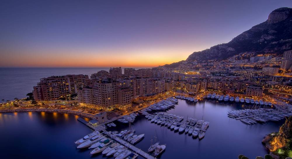 Ηλιοβασίλεμα στο Μονακό